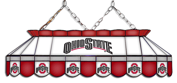Bon Ohio State Tiffany Stained Glass Lamps