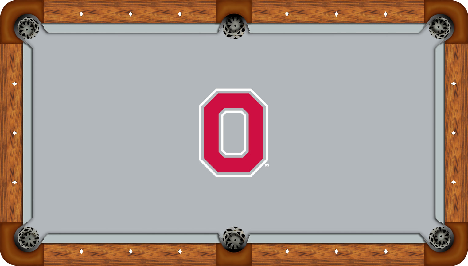 Ohio State Billiard Table Cloth